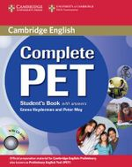Complete PET Student's Book with Answers with CD-ROM - Emma Heyderman