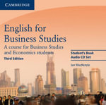 English for Business Studies Audio CDs (2) : A Course for Business Studies and Economics Students - Ian Mackenzie
