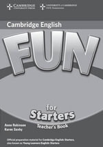 Fun for Starters Teacher's Book : Fun for - Anne Robinson