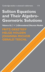 Hierarchies of Soliton Equations and Their Algebro-Geometric Solutions :  Volume 2, (1+1)-Dimensional Discrete Models - F. Gesztesy