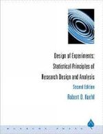 Design of Experiments : Statistical Principles of Research Design and Analysis : 2nd Edition  - Robert O. Kuehl