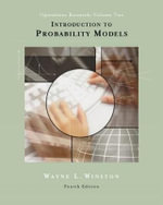 Introduction to Probability Models: Volume II : Operations Research, (with CD-ROM and InfoTrac) - Wayne L. Winston