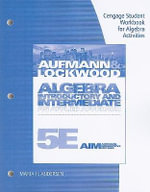 Algebra, Student Workbook for Algebra Activities : Introductory & Intermediate: An Applied Approach - Richard N Aufmann