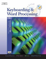 Keyboarding and Word Processing, Lessons 1-60 - Donna Woo