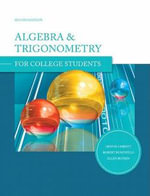 Algebra & Trigonometry for College Students - Dennis Christy