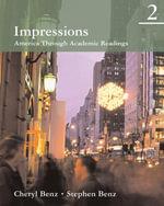 Impressions 2 : America Through Academic Readings - Cheryl Benz