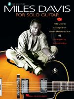 Miles Davis for Solo Guitar - Miles Davis