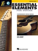 Essential Elements for Guitar, Book 1 : Comprehensive Guitar Method - Will Schmid