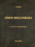 Simon Boccanegra : Canto E Pianoforte - Giuseppe Verdi