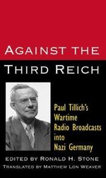 Paul Tillich : Against the Third Reich - Paul Tillich