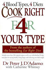 Cook Right 4 (for) Your Type : The Art of Andrew Dasburg (1887-1979) - Peter D'Adamo