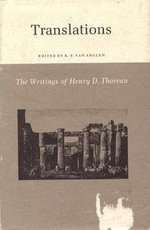 The Writings of Henry David Thoreau : Translations - Henry David Thoreau