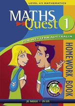 Maths Quest for Western Australia Book 1 Homework Book : Maths Quest for Western Australia Junior Series - JACARANDA