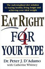 Eat Right 4 Your Type - Peter D'Adamo