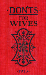 Don'ts for Wives - Minituare-sized Gift Book - Blanche Ebbutt