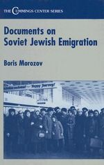 Documents on Soviet Jewish Emigration : Cummings Centre S.