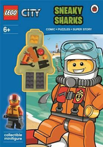 LEGO City : Sneaky Sharks Activity Book with Minifigure : Lego - Ladybird