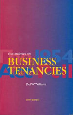 Fox-Andrews on Business Tenancies - Del W. Williams