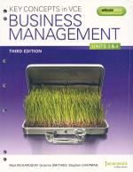 Key Concepts in VCE Business Management Units 3&4 3E Flexisaver & eBookPLUS : Key Concepts in Business Management Series - Chapman