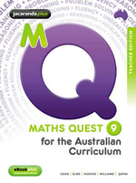 Maths Quest 9 for the Australian Curriculum Teacher Edition & EGuidePLUS : Maths Quest for Aust Curriculum Series - Robert Cahn