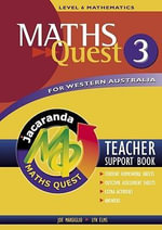 Maths Quest for Western Australia : Teacher Support Book 3 - Jacaranda