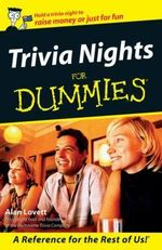 Trivia Nights For Dummies : Australian Edition - Alan Lovett
