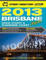UBD Gregorys Brisbane Steet Directory Refidex 57th 2013 - UBD Gregorys