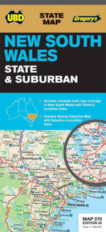 NSW State and Suburban Map 270 : 26th Edition - UBD Gregorys
