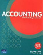 Accounting : An Introductory Framework : Coursebook - Trevor Stanley