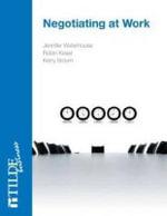 Negotiating at Work - Jennifer Waterhouse