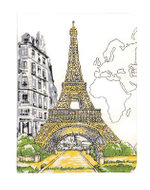 Paris Eiffel Tower Handmade Journal