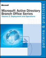 Active Directory Branch Office Series : Deployment and Operations v. 2 - Microsoft Press