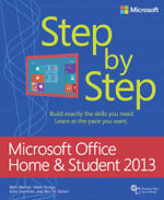 Microsoft Office Home and Student 2013 Step by Step - Beth Melton