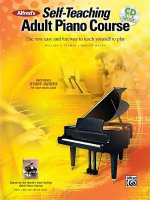 Alfred's Self-Teaching Adult Piano Course : The New, Easy and Fun Way to Teach Yourself to Play, Book & CD - Willard A Palmer