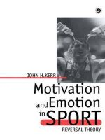 Motivation and Emotion in Spor - John H. Kerr