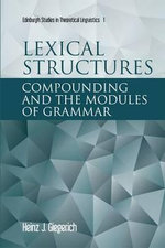 Lexical Structures - Heinz J. Giegerich