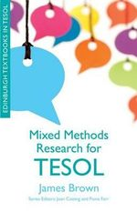 Mixed Methods Research for TESOL - James Dean Brown