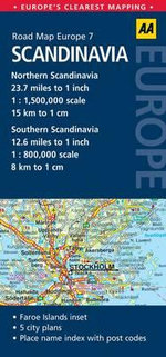 AA Road Map Europe 7 : Scandinavia - AA Publishing