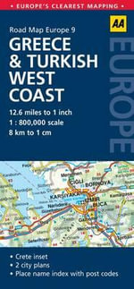 AA Road Map Europe 9 : Greece & Turkish West Coast - AA Publishing