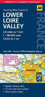 AA Touring Map France 3 : Lower Loire Valley - AA Publishing