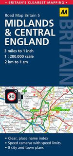 5. Midlands & Central England : AA Road Map Britain - AA Publishing