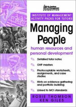 Im Activity Pack : Managing People: Human Resources and Personal Development - Ken Giles
