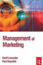 Management of Marketing - Paul D. Reynolds