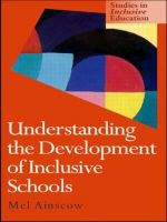 Development of Inclusive Schools : Sociocultural Perspectives - Mel Ainscow