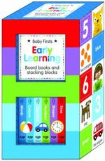 Early Learning Books and Stacking Blocks Set