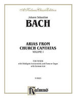 Tenor Arias (12 Arias), Vol 1 : German Language Edition - Johann Bach