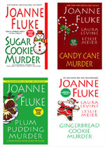 Joanne Fluke Christmas Bundle : Sugar Cookie Murder, Candy Cane Murder, Plum Pudd ing Murder, & Gingerbread Cookie Murder - Joanne Fluke