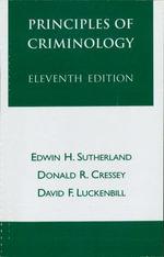 Principles of Criminology - Edwin H. Sutherland