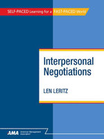 Interpersonal Negotiations : eBook Edition - Len Leritz