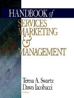 Handbook of Services Marketing and Management